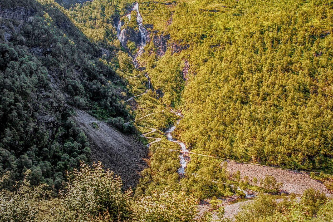 挪威弗拉姆铁路(Flam Railway),沿路的山水_图1-18