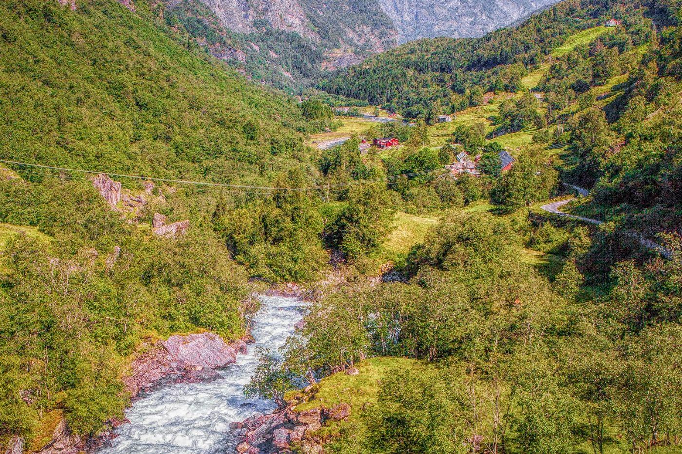 挪威弗拉姆铁路(Flam Railway),沿路的山水_图1-20