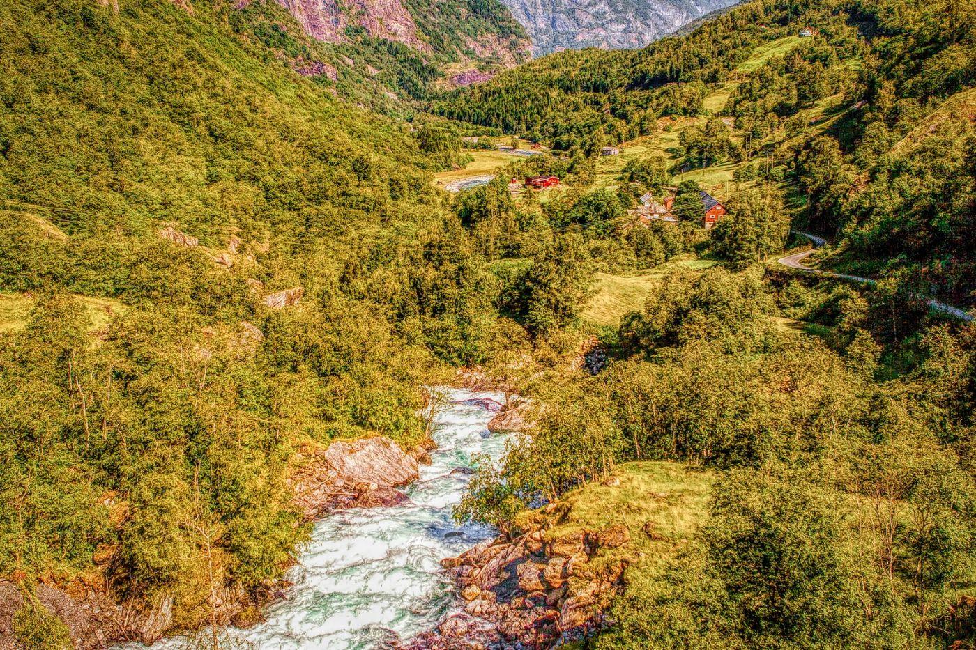 挪威弗拉姆铁路(Flam Railway),沿路的山水_图1-21