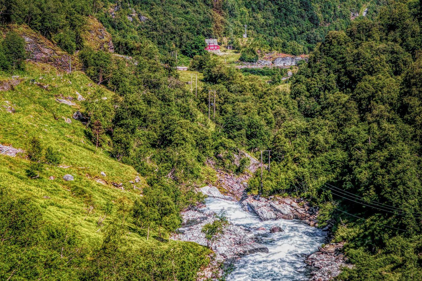 挪威弗拉姆铁路(Flam Railway),沿路的山水_图1-27