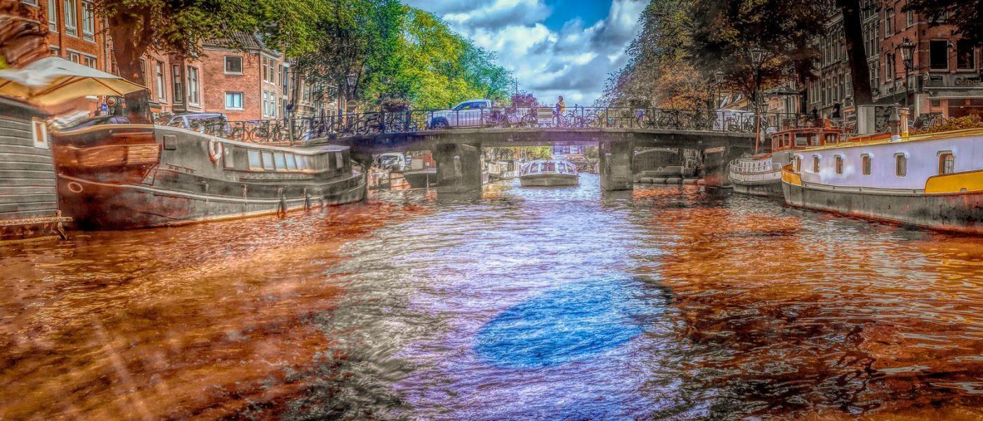 荷兰阿姆斯特丹,透过船窗看西洋_图1-2