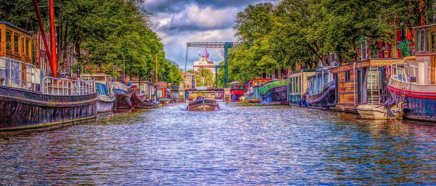 荷兰阿姆斯特丹,透过船窗看西洋_图1-3