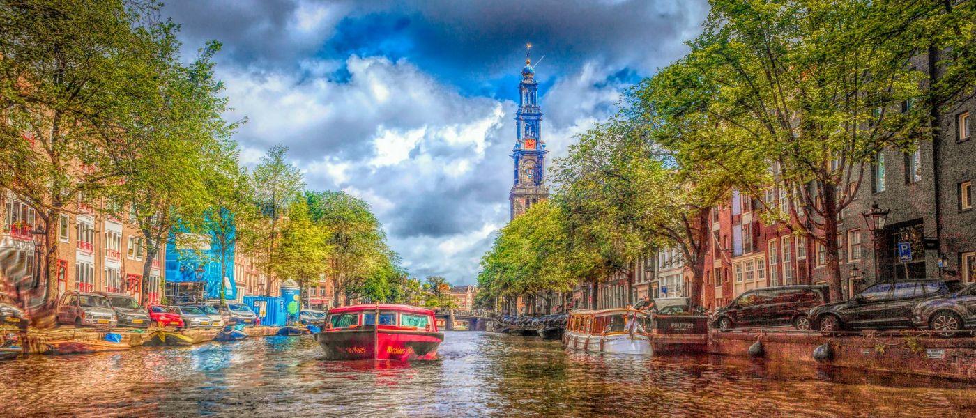 荷兰阿姆斯特丹,透过船窗看西洋_图1-33