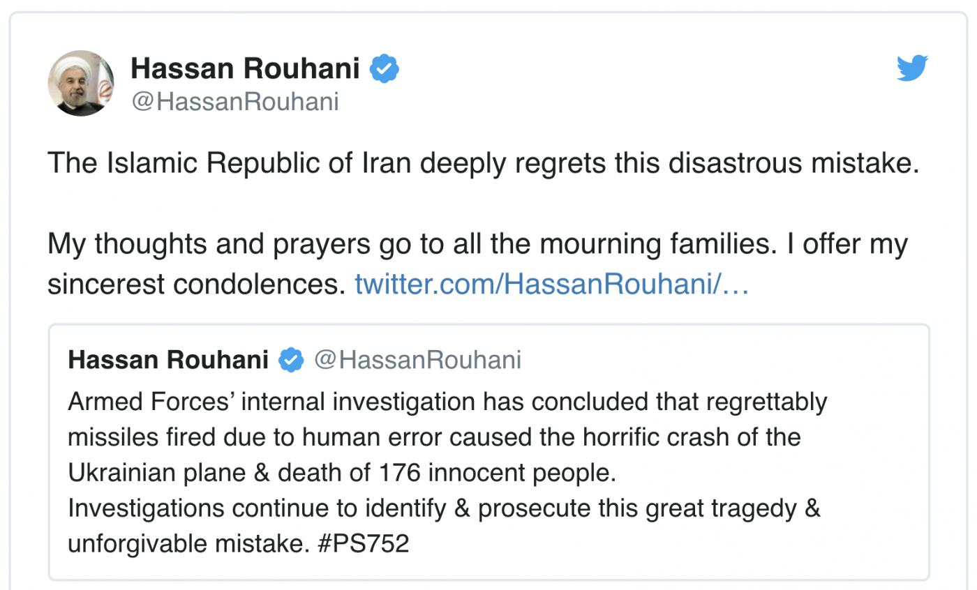 伊朗终于承认发射导弹误中民航客机_图1-1