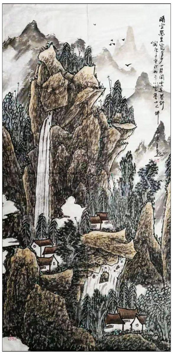 牛志高2020山水画画-----------2020.1.15_图1-2