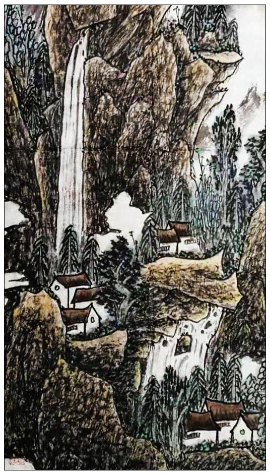 牛志高2020山水画画-----------2020.1.15_图1-3