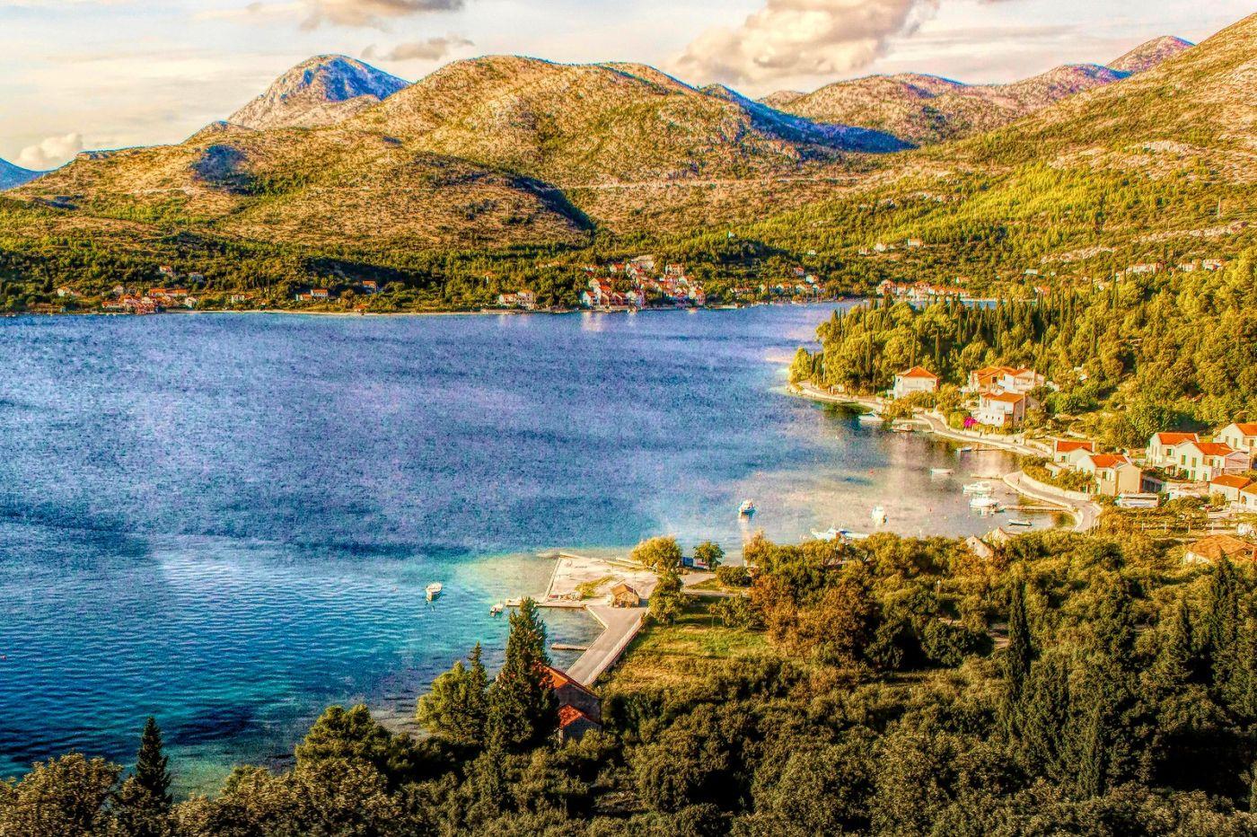 克羅地亞旅途,遠處的海灣_圖1-34