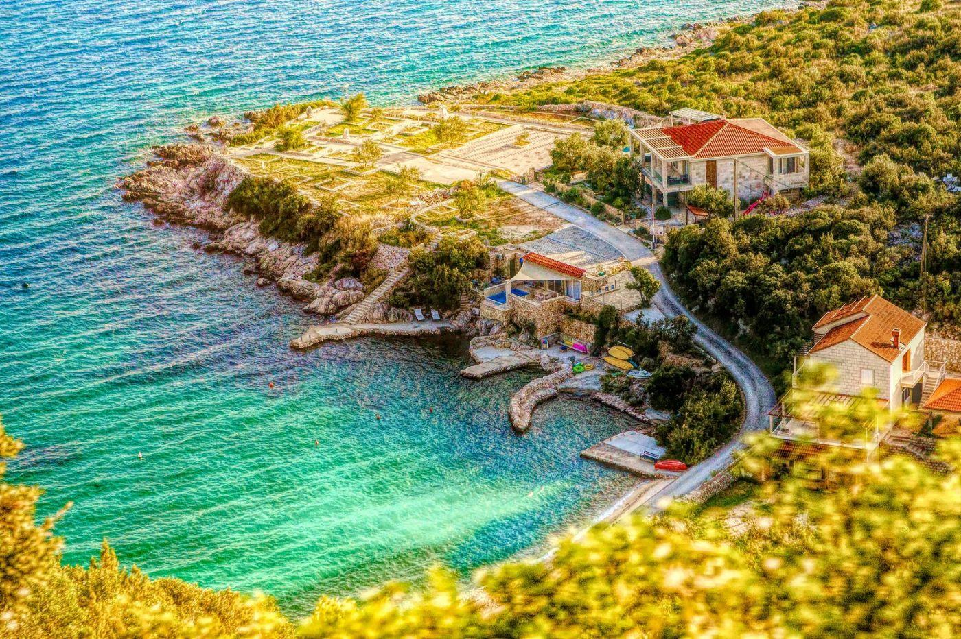 克羅地亞旅途,遠處的海灣_圖1-22