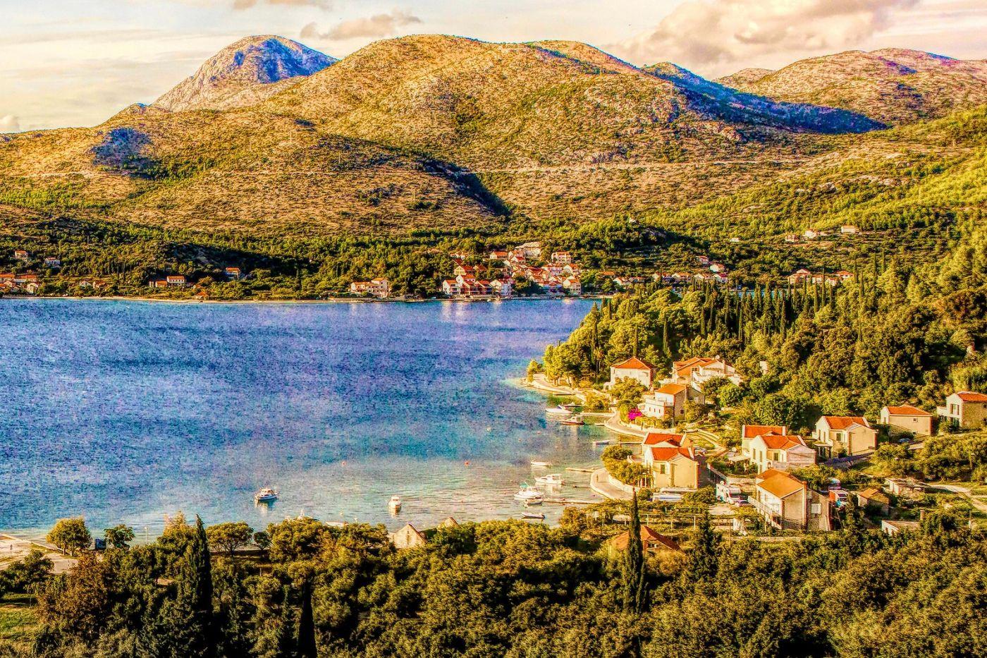 克羅地亞旅途,遠處的海灣_圖1-20