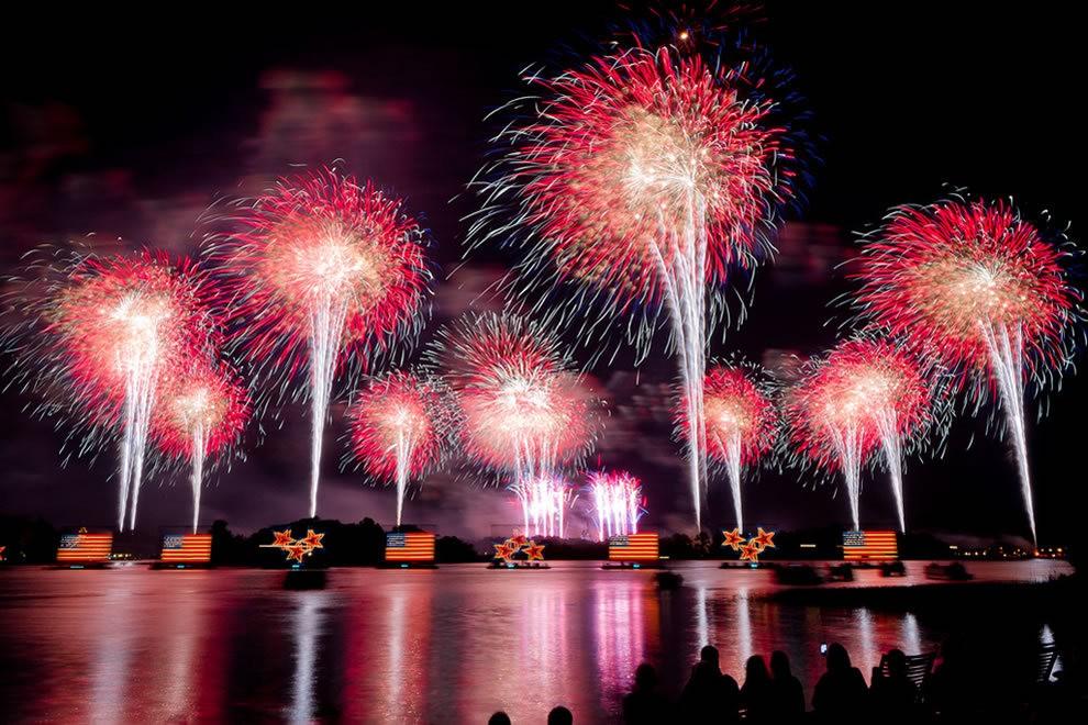 美国独立纪念日----烟花会演_图1-2