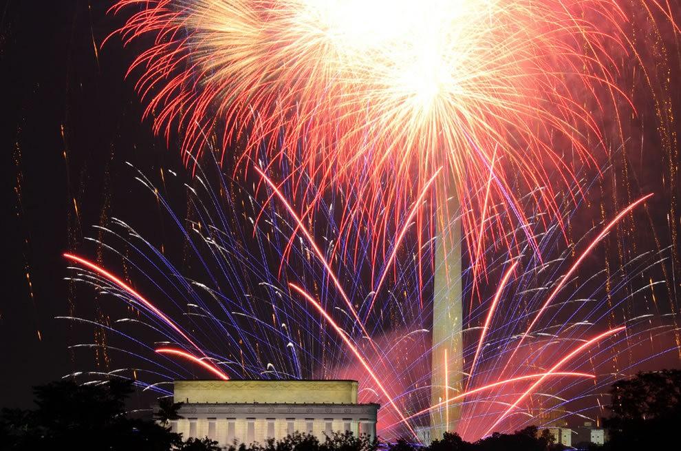 美国独立纪念日----烟花会演_图1-10