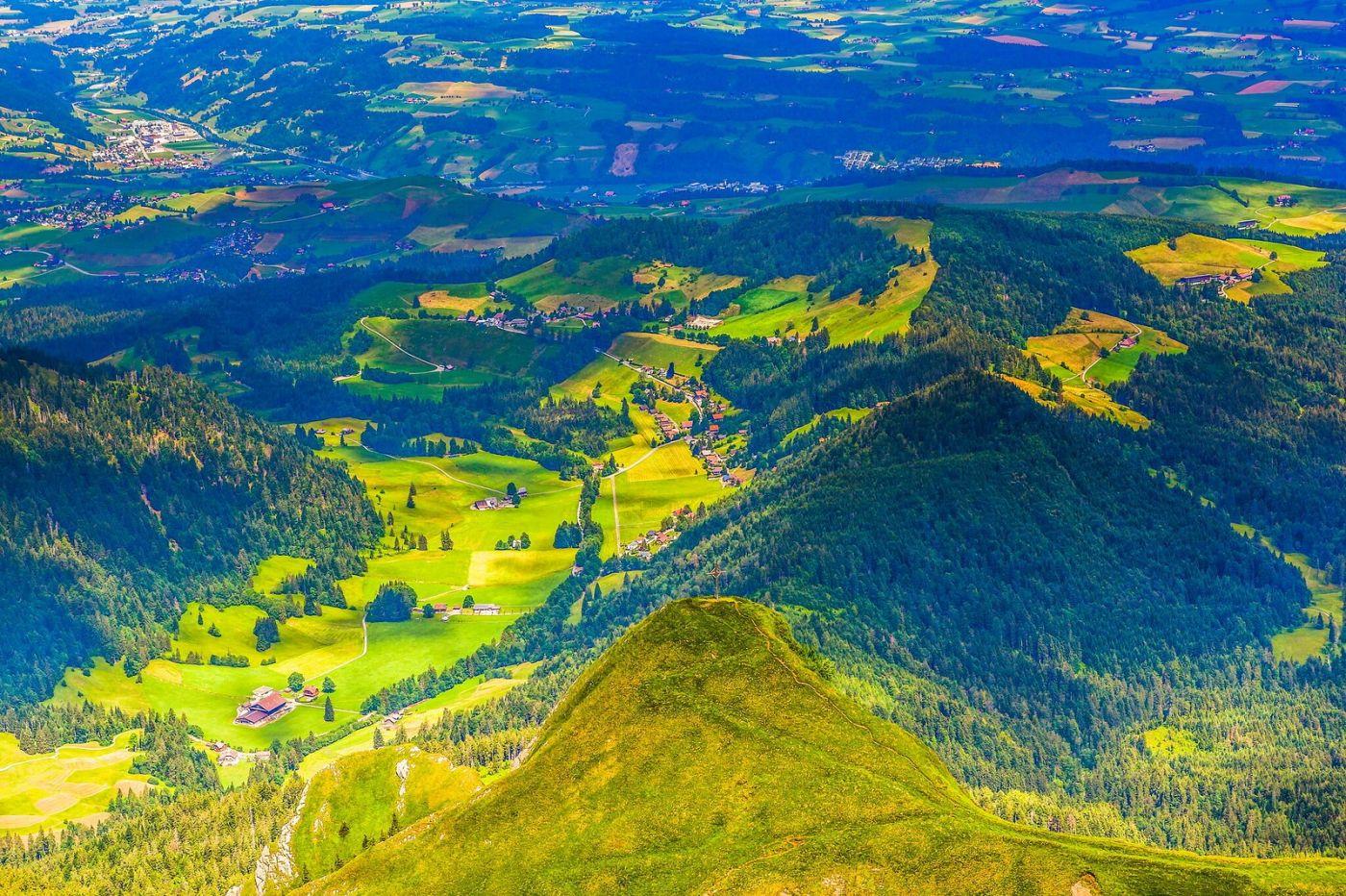 瑞士卢塞恩(Lucerne),山顶眺望_图1-2