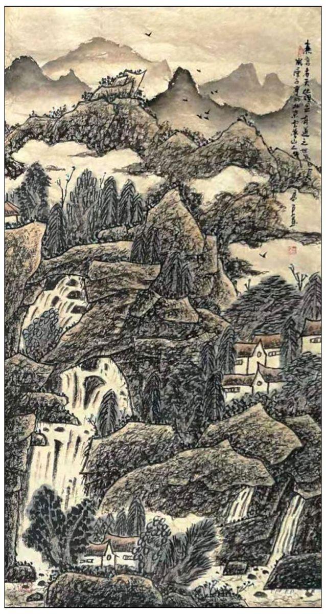 牛志高2020山水画--十二条屏-----------2020.1.16_图1-8