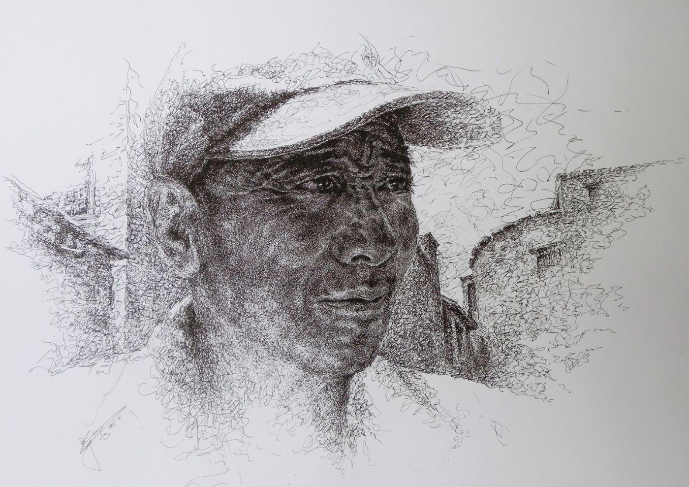 山雪钢笔画2019年全集_图1-3