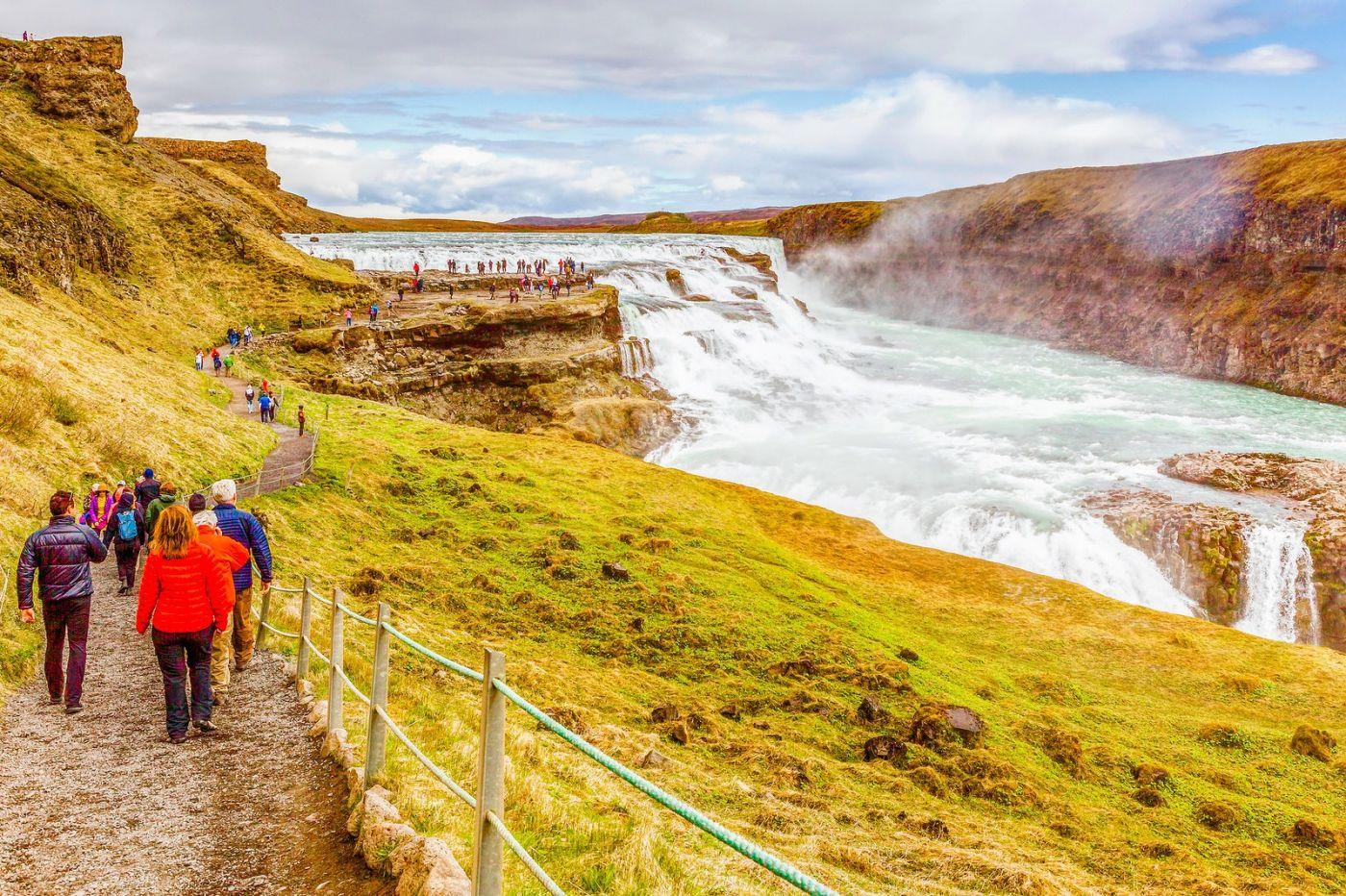 冰岛古佛斯瀑布(Gullfoss),气势磅礴_图1-29