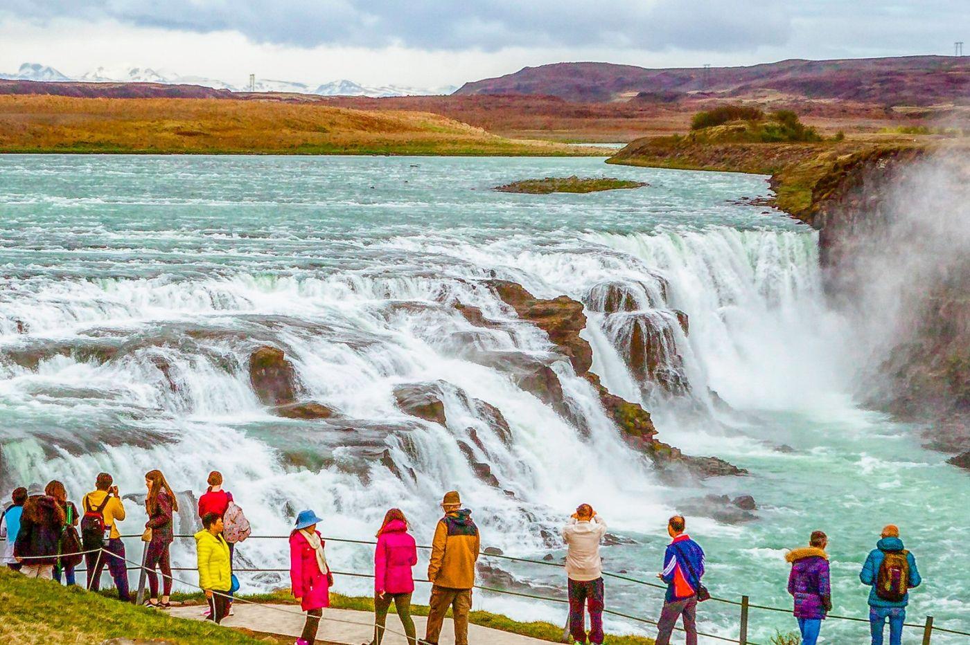 冰岛古佛斯瀑布(Gullfoss),气势磅礴_图1-25