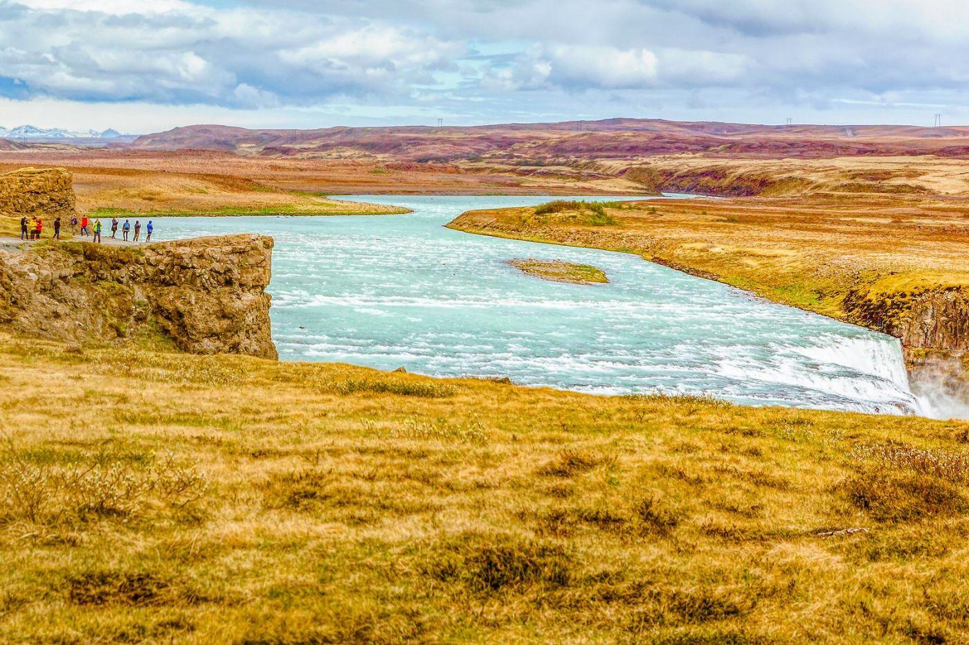 冰岛古佛斯瀑布(Gullfoss),气势磅礴_图1-26
