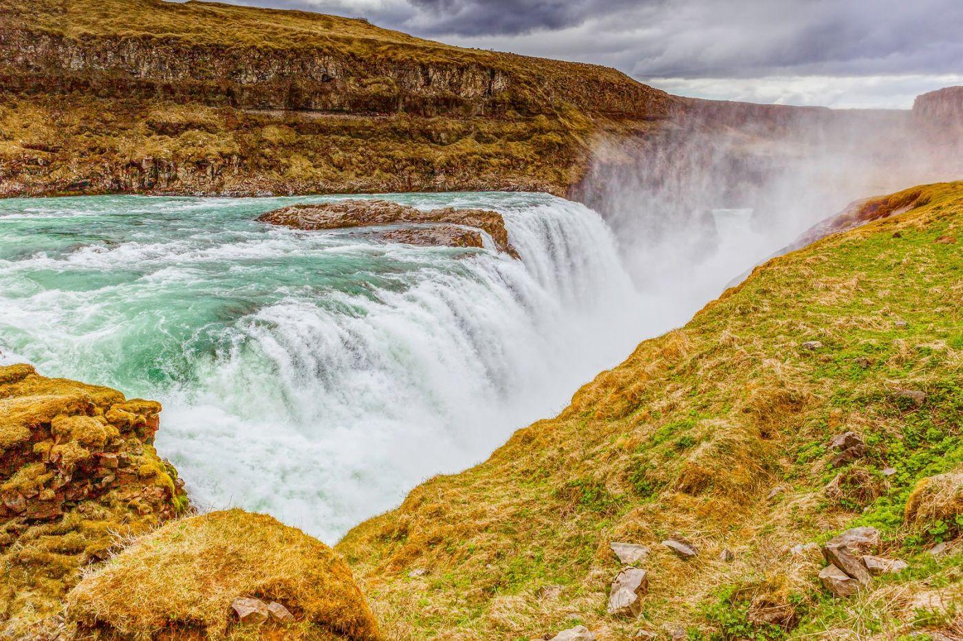 冰岛古佛斯瀑布(Gullfoss),气势磅礴_图1-21