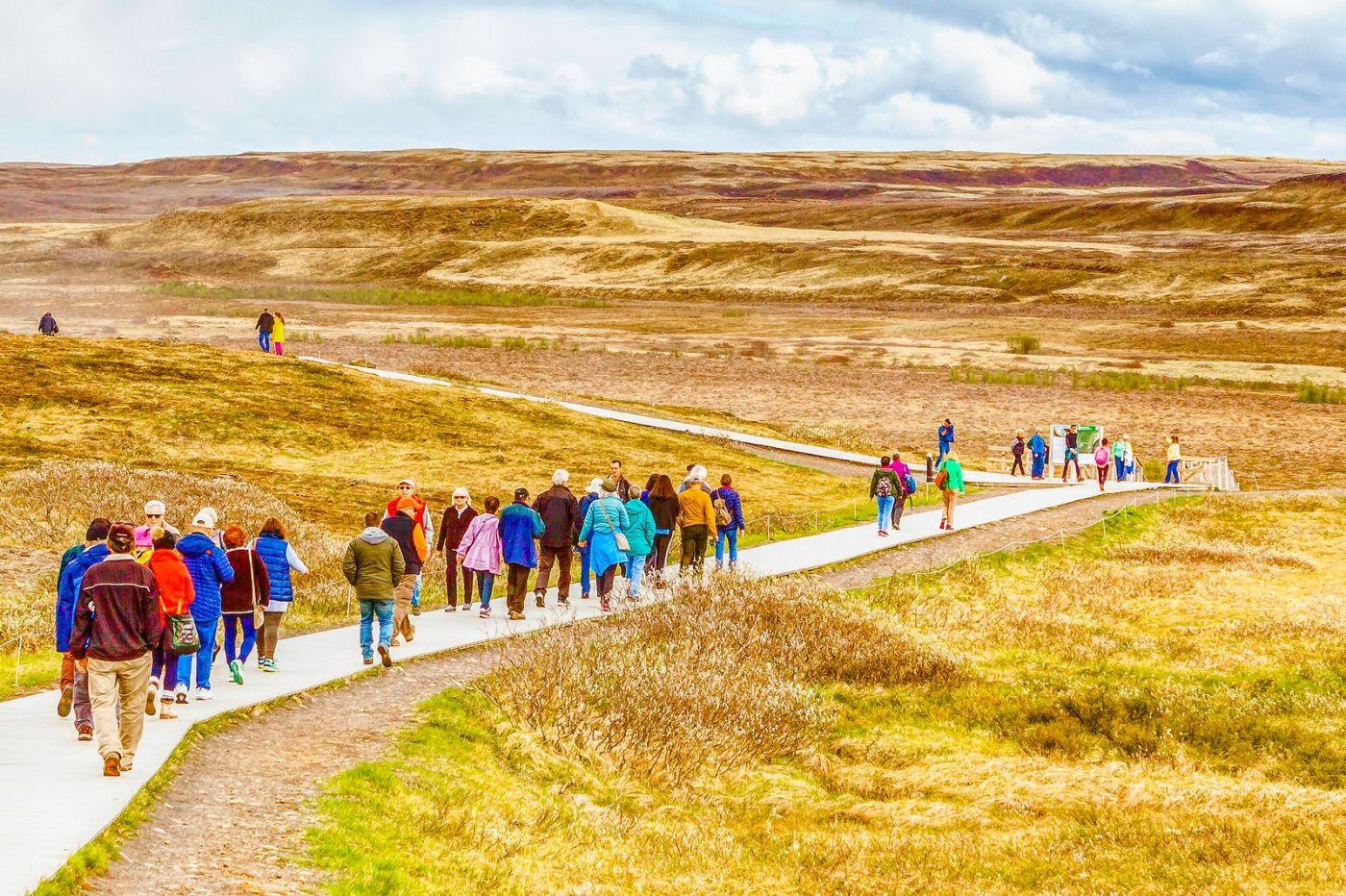 冰岛古佛斯瀑布(Gullfoss),气势磅礴_图1-19