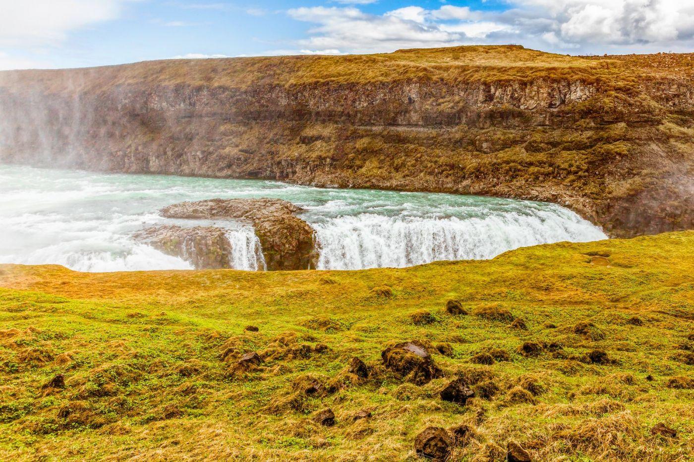 冰岛古佛斯瀑布(Gullfoss),气势磅礴_图1-18