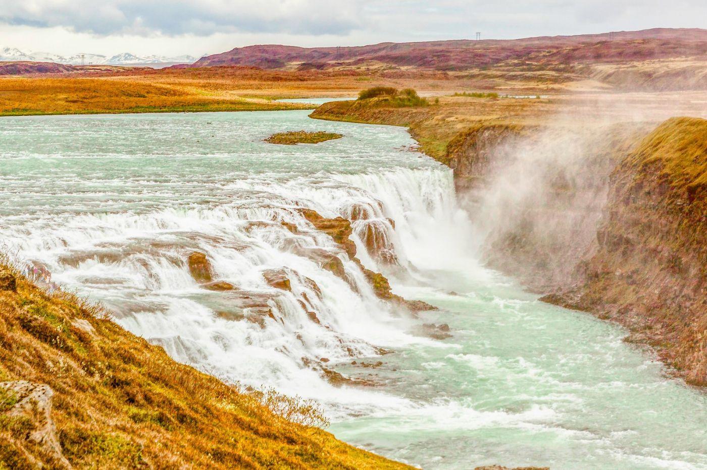冰岛古佛斯瀑布(Gullfoss),气势磅礴_图1-17