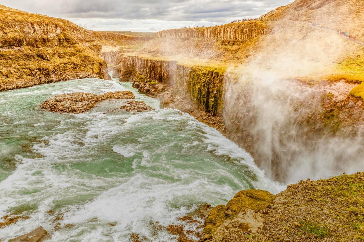 冰岛古佛斯瀑布(Gullfoss),气势磅礴_图1-16