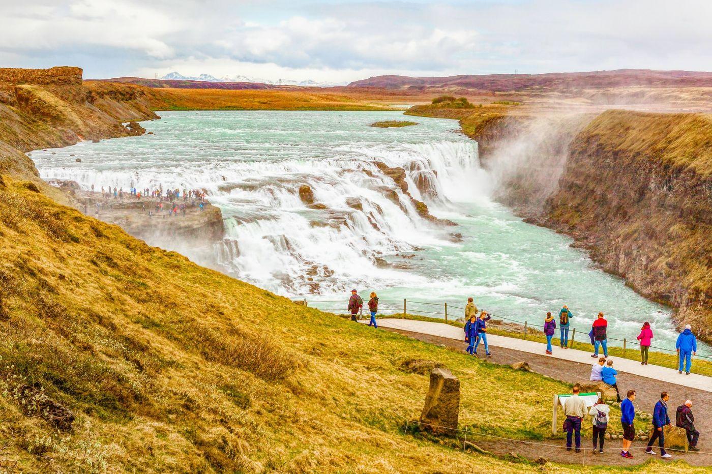 冰岛古佛斯瀑布(Gullfoss),气势磅礴_图1-15