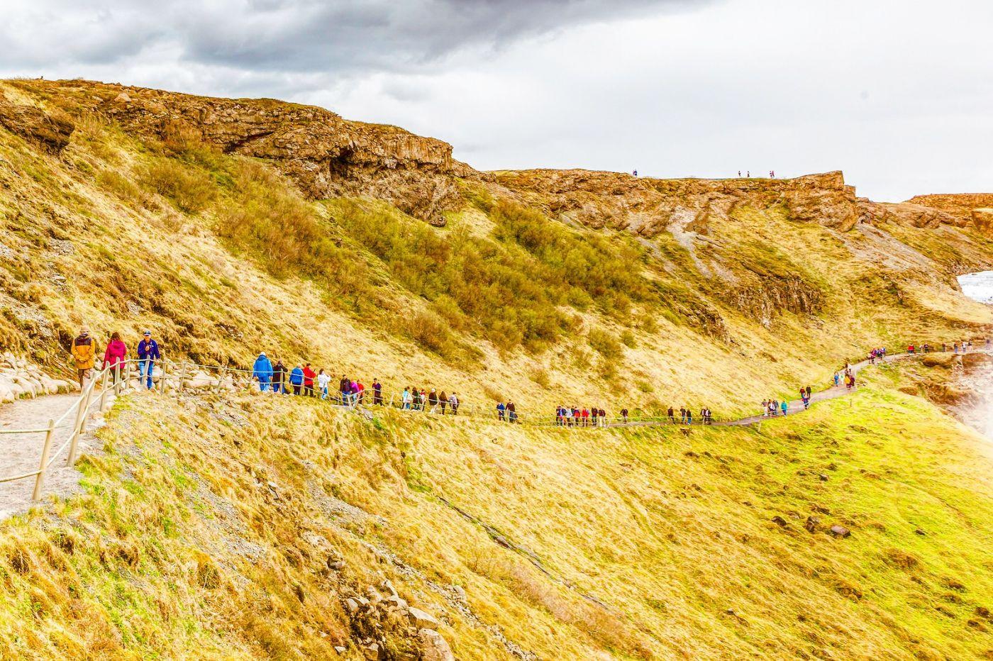 冰岛古佛斯瀑布(Gullfoss),气势磅礴_图1-12