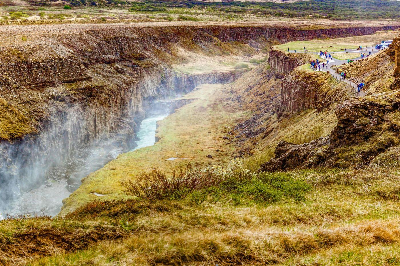 冰岛古佛斯瀑布(Gullfoss),气势磅礴_图1-13