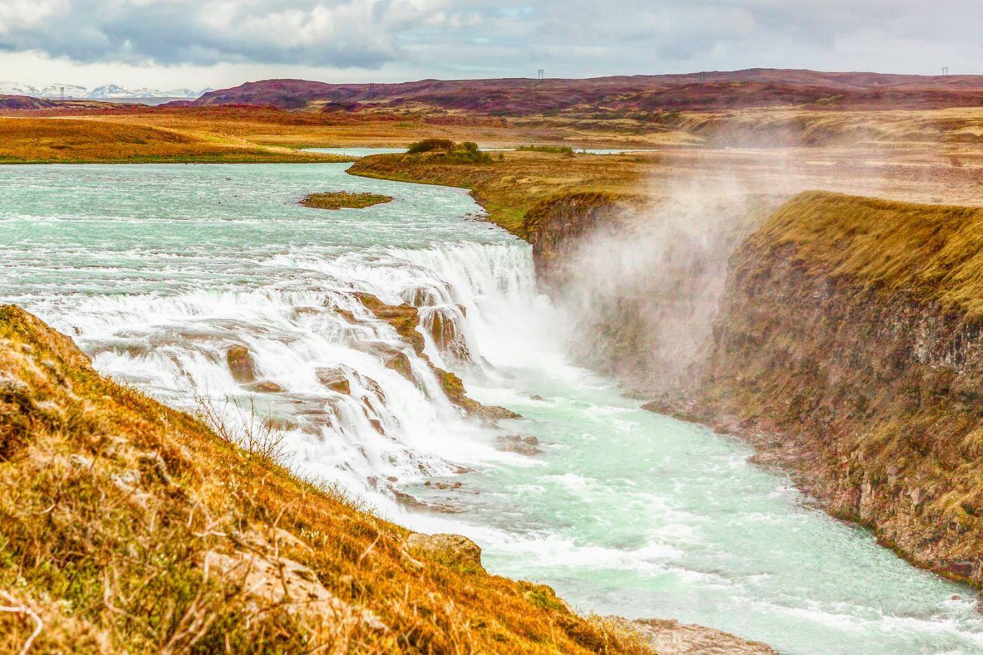 冰岛古佛斯瀑布(Gullfoss),气势磅礴_图1-10