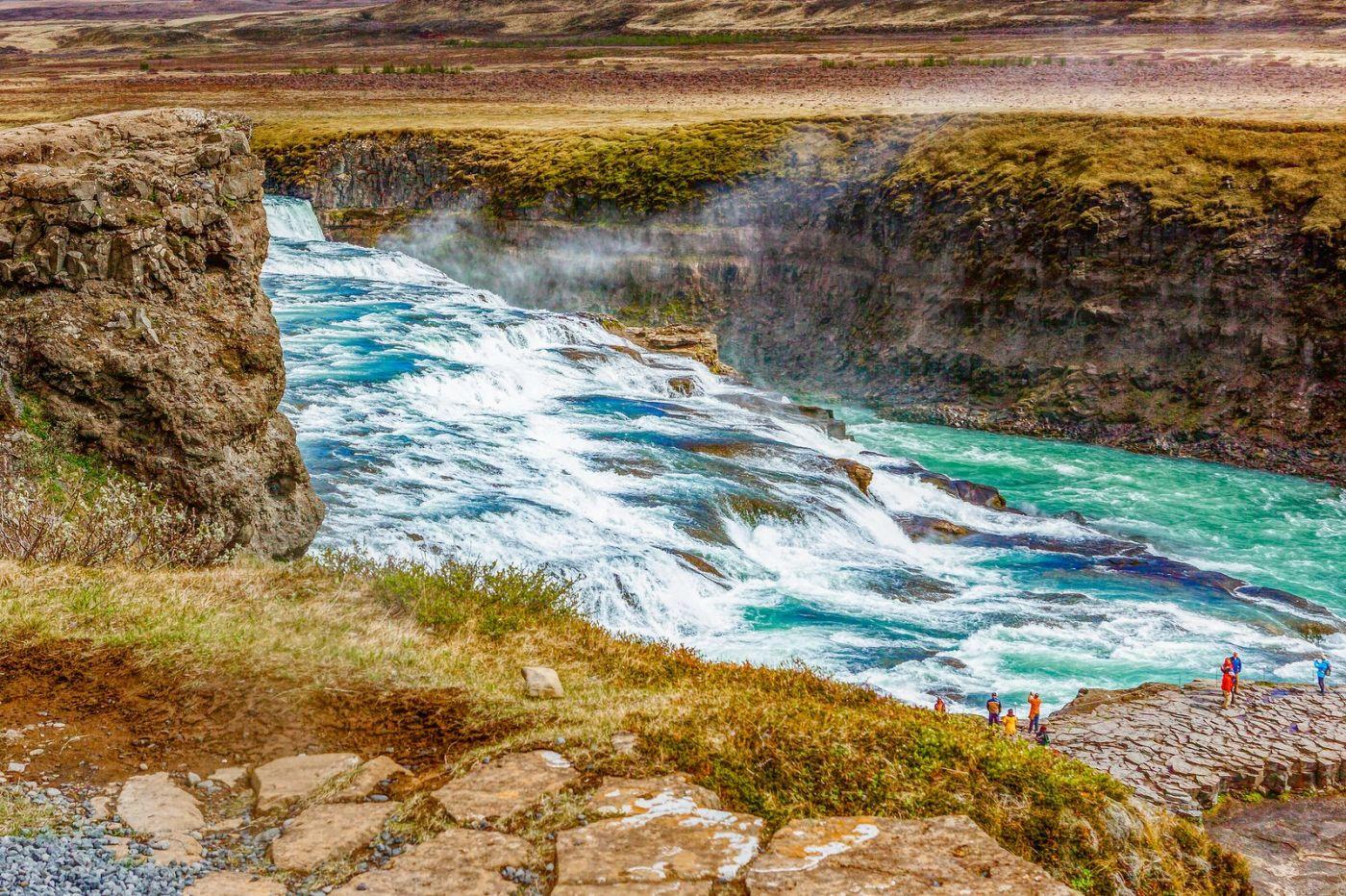冰岛古佛斯瀑布(Gullfoss),气势磅礴_图1-9