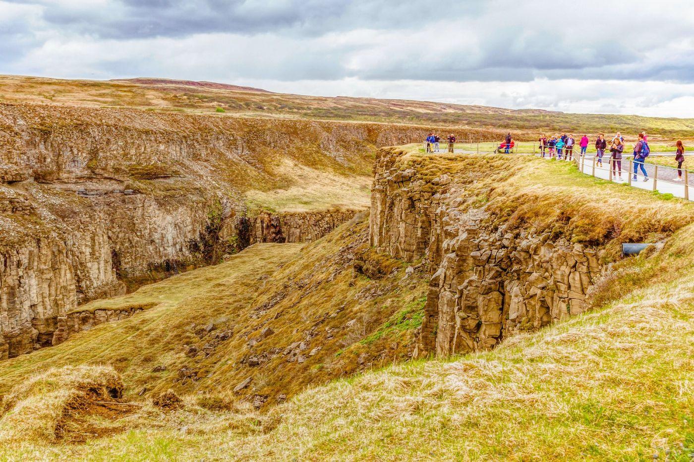 冰岛古佛斯瀑布(Gullfoss),气势磅礴_图1-7