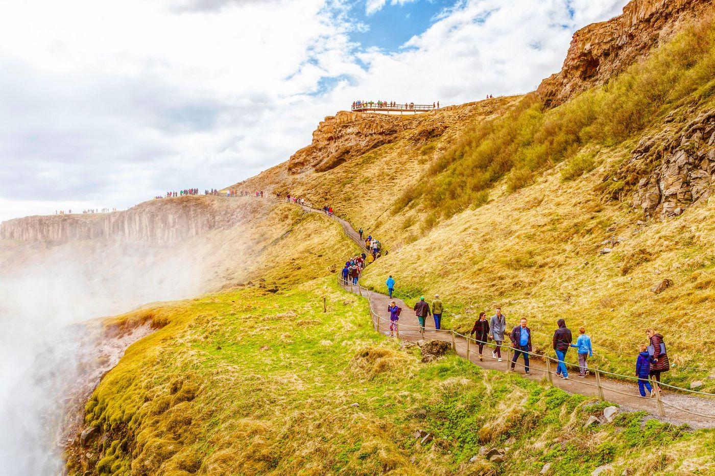 冰岛古佛斯瀑布(Gullfoss),气势磅礴_图1-8