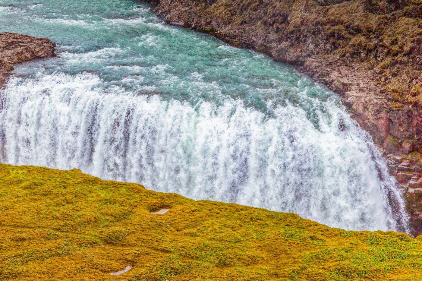 冰岛古佛斯瀑布(Gullfoss),气势磅礴_图1-3