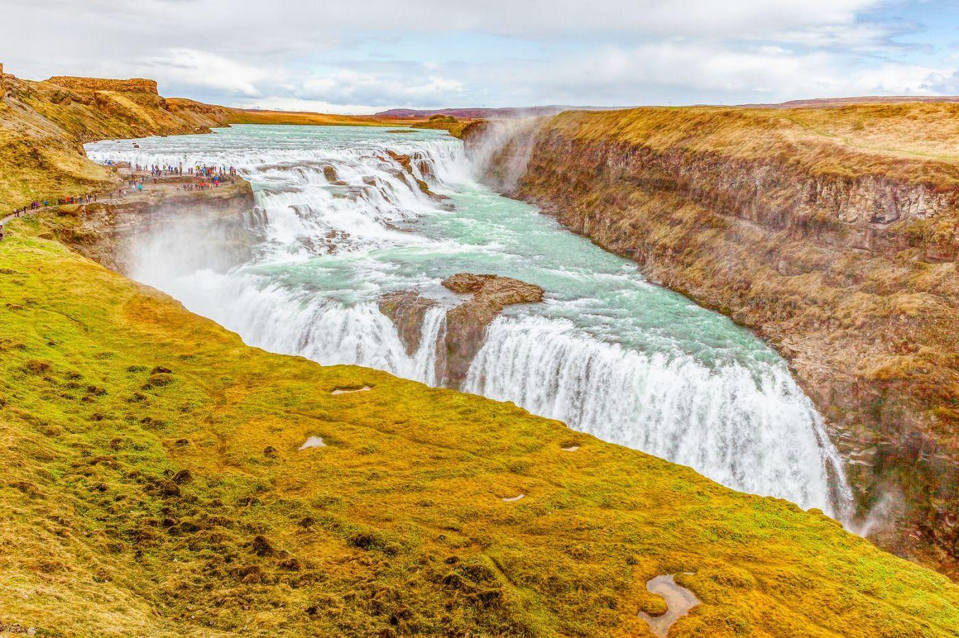 冰岛古佛斯瀑布(Gullfoss),气势磅礴_图1-5