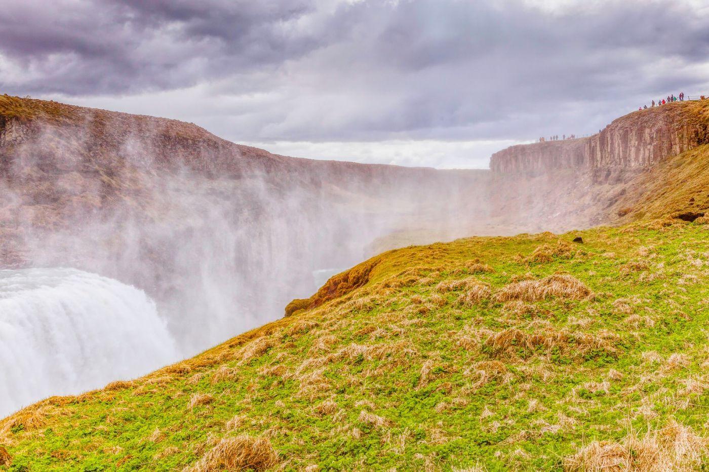 冰岛古佛斯瀑布(Gullfoss),气势磅礴_图1-6