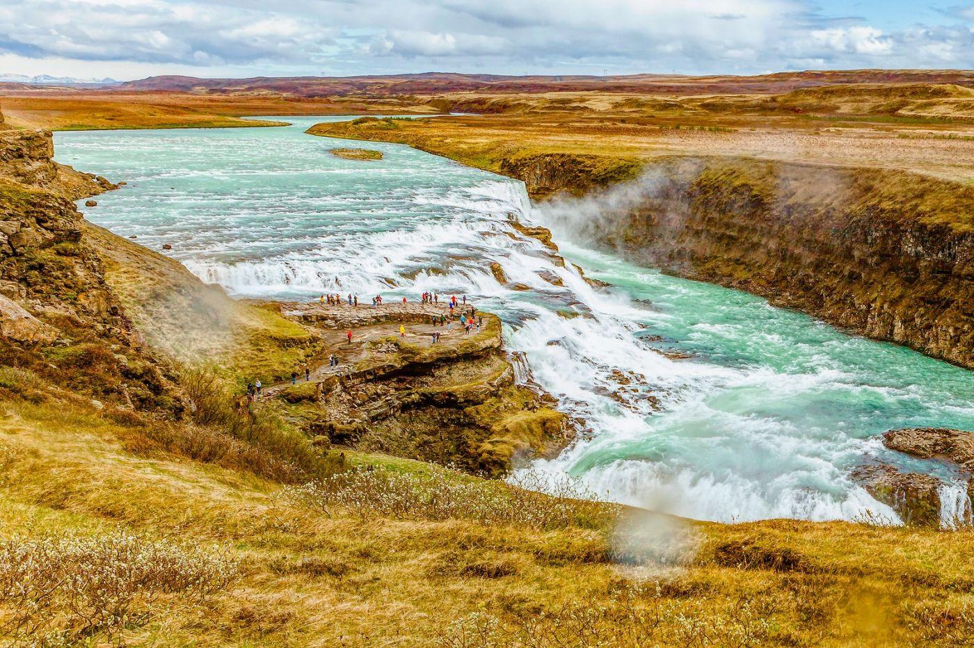 冰岛古佛斯瀑布(Gullfoss),气势磅礴_图1-1
