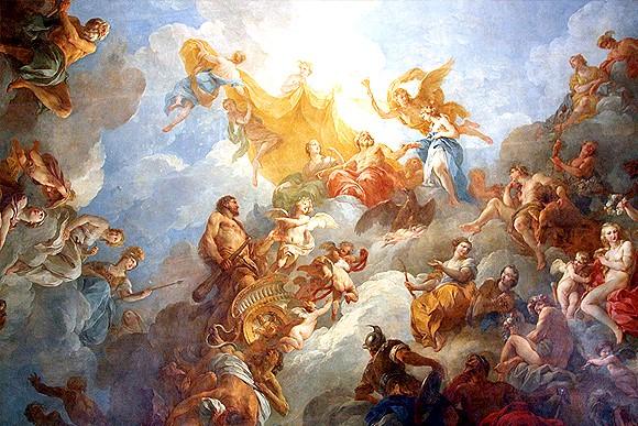 凡尔赛宫的两幅油画(二)《赫尔克里斯升天》_图1-4