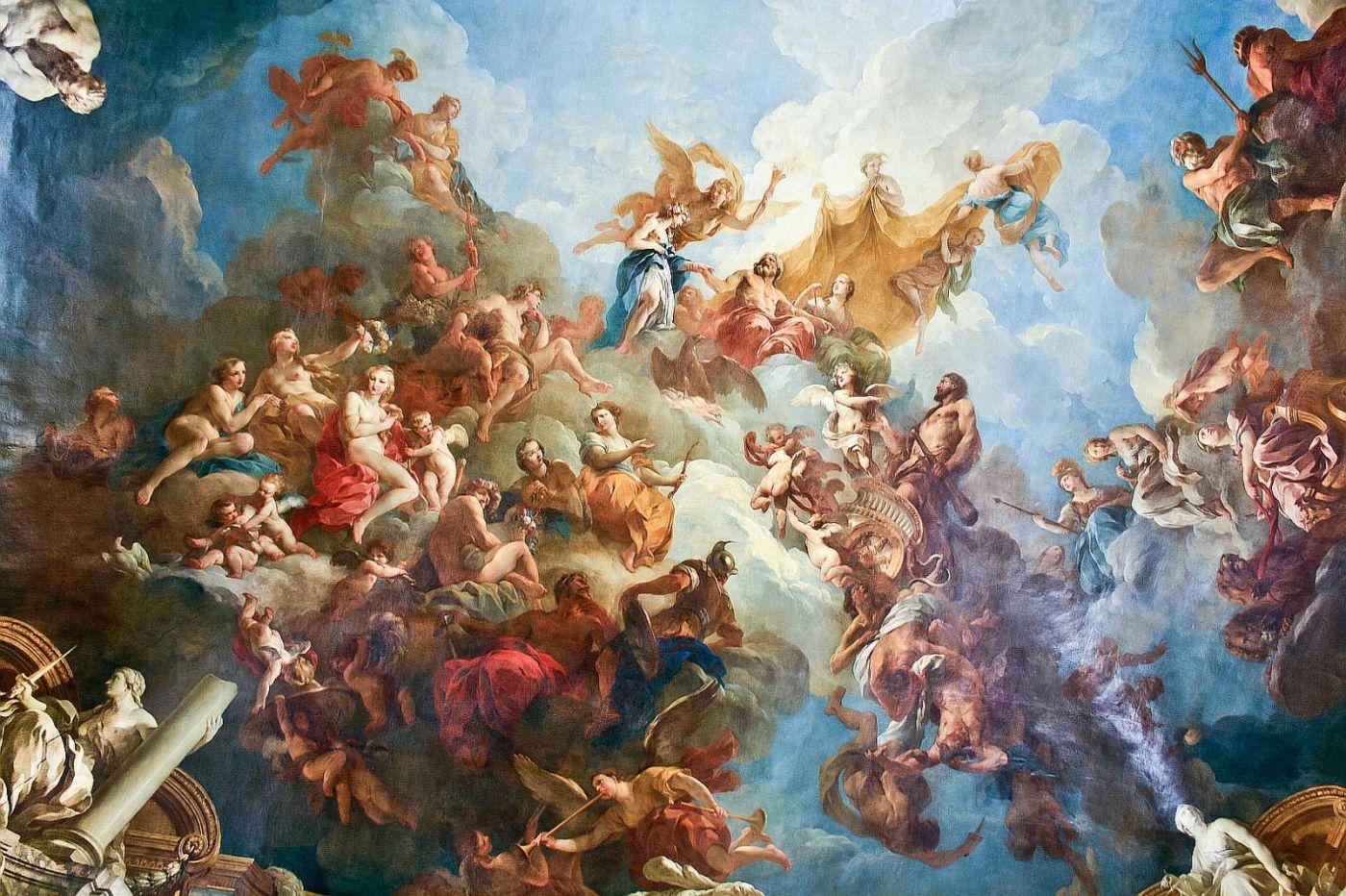 凡尔赛宫的两幅油画(二)《赫尔克里斯升天》_图1-1