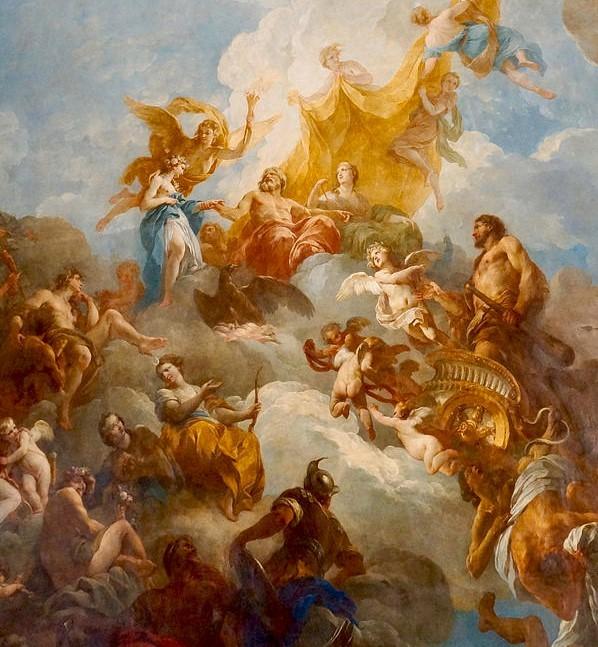 凡尔赛宫的两幅油画(二)《赫尔克里斯升天》_图1-2
