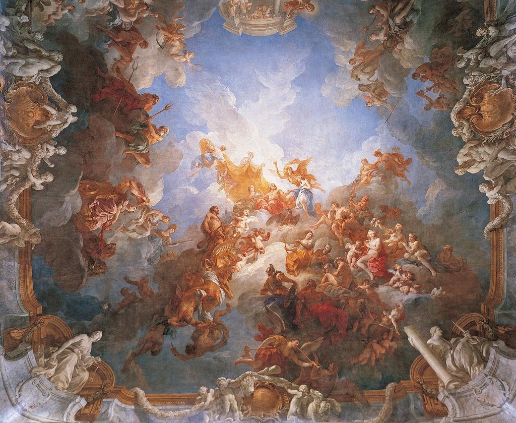 凡尔赛宫的两幅油画(二)《赫尔克里斯升天》_图1-3