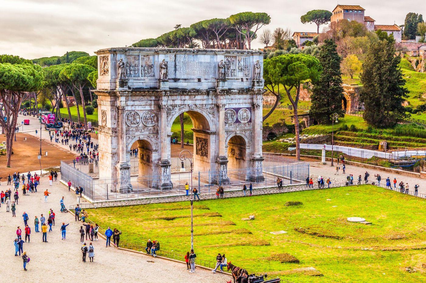 罗马君士坦丁凯旋门,两千年的建筑_图1-8