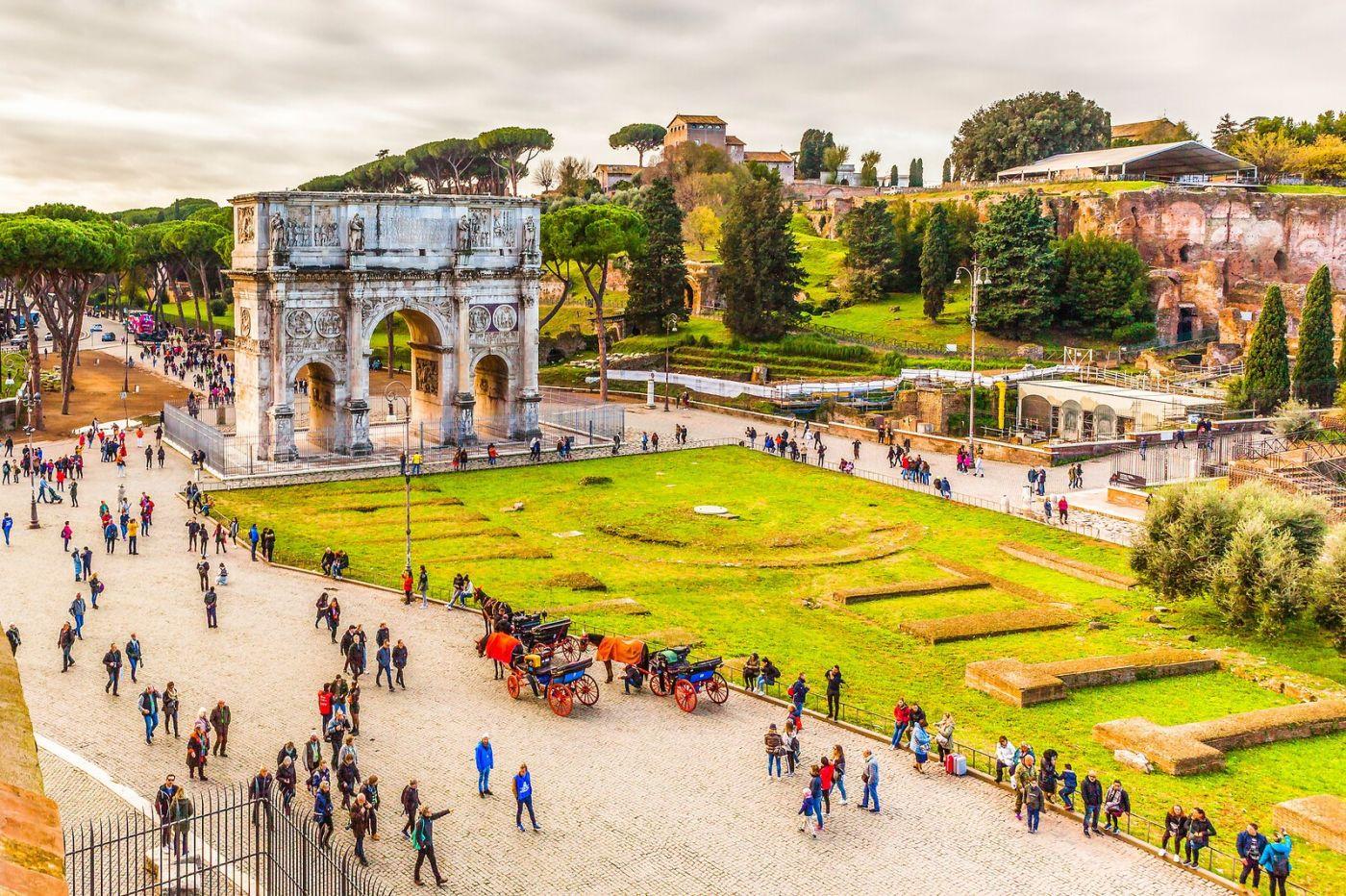 罗马君士坦丁凯旋门,两千年的建筑_图1-12