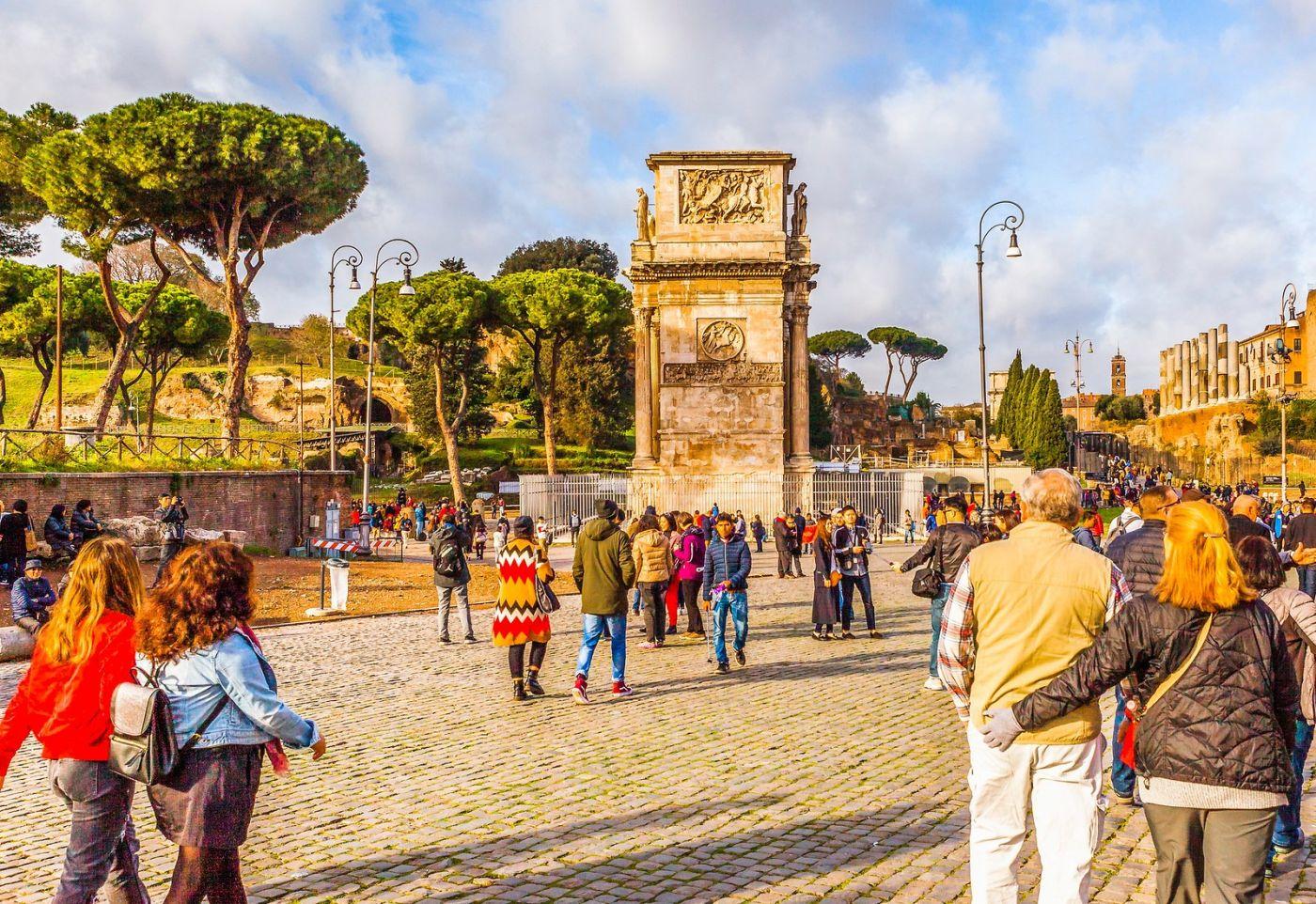 罗马君士坦丁凯旋门,两千年的建筑_图1-7