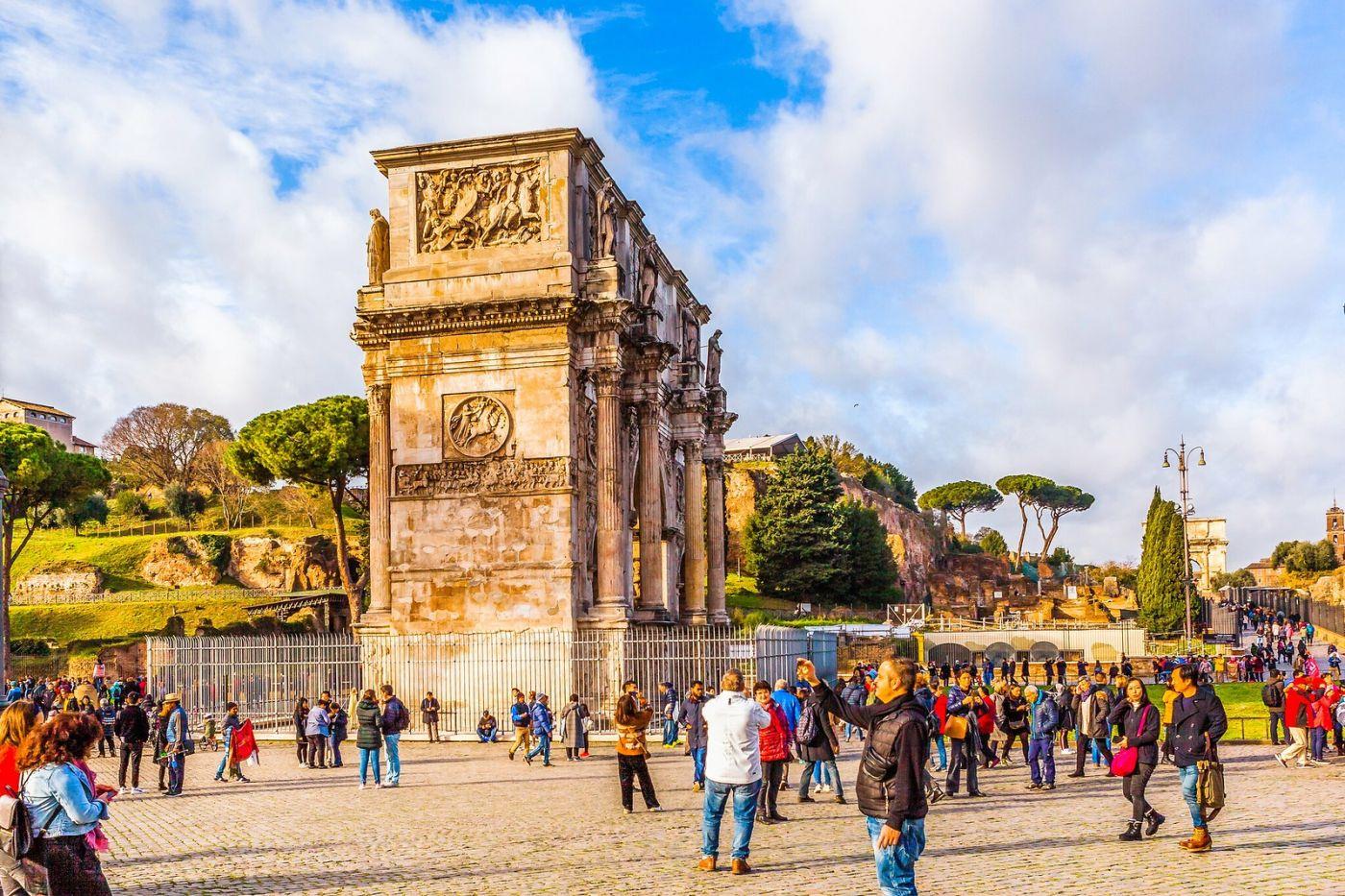 罗马君士坦丁凯旋门,两千年的建筑_图1-20