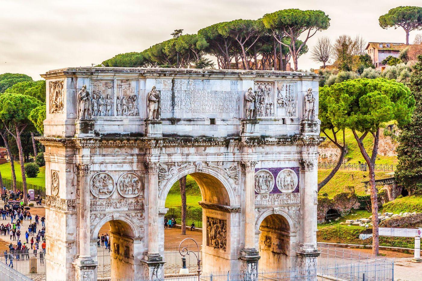 罗马君士坦丁凯旋门,两千年的建筑_图1-19