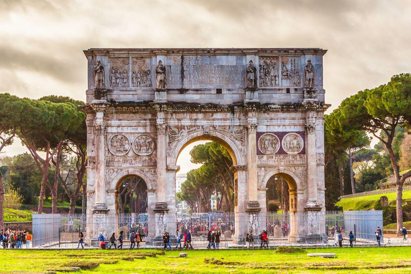 罗马君士坦丁凯旋门,两千年的建筑_图1-21