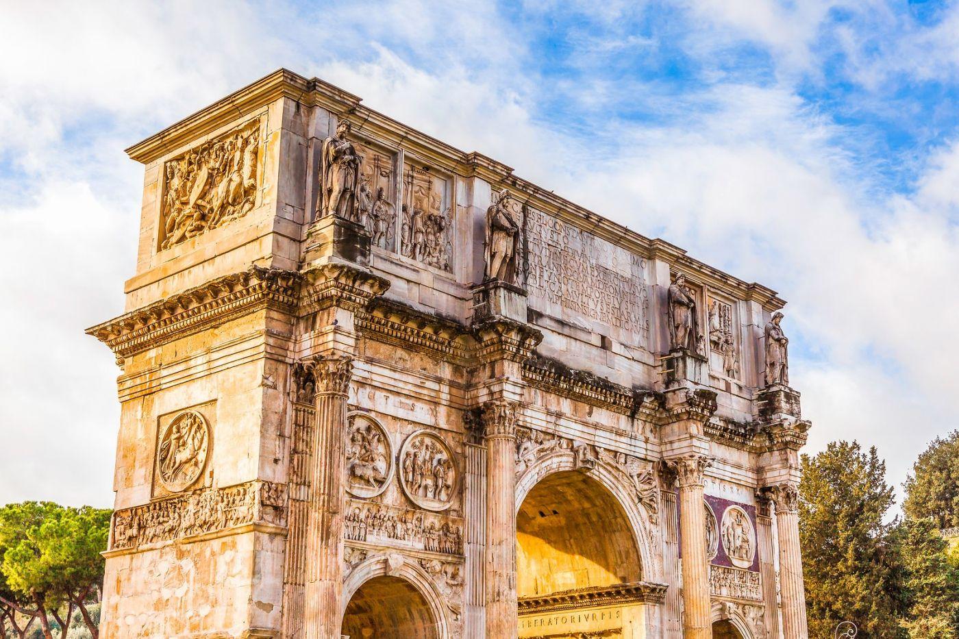 罗马君士坦丁凯旋门,两千年的建筑_图1-26