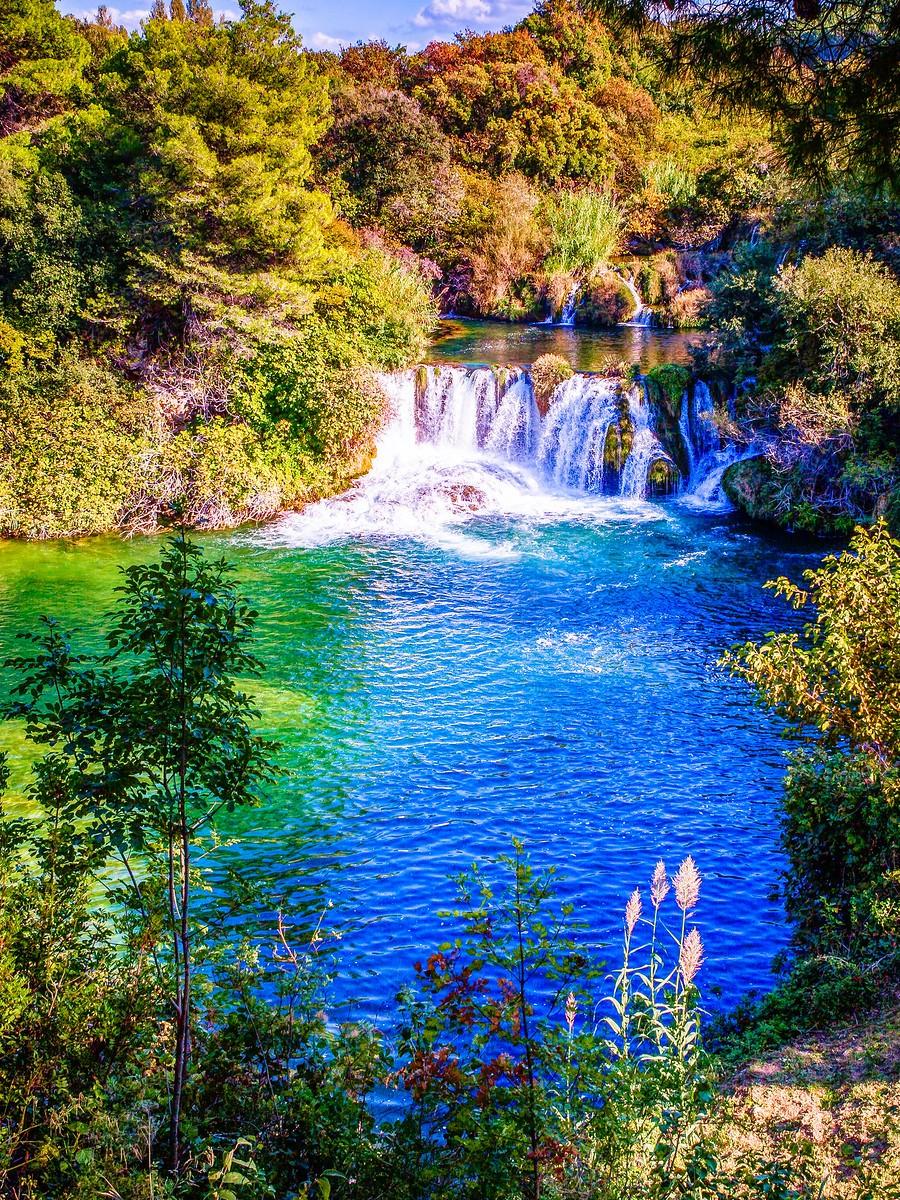 克罗地亚克尔卡国家公园(Krka National Park),走在瀑布傍_图1-40