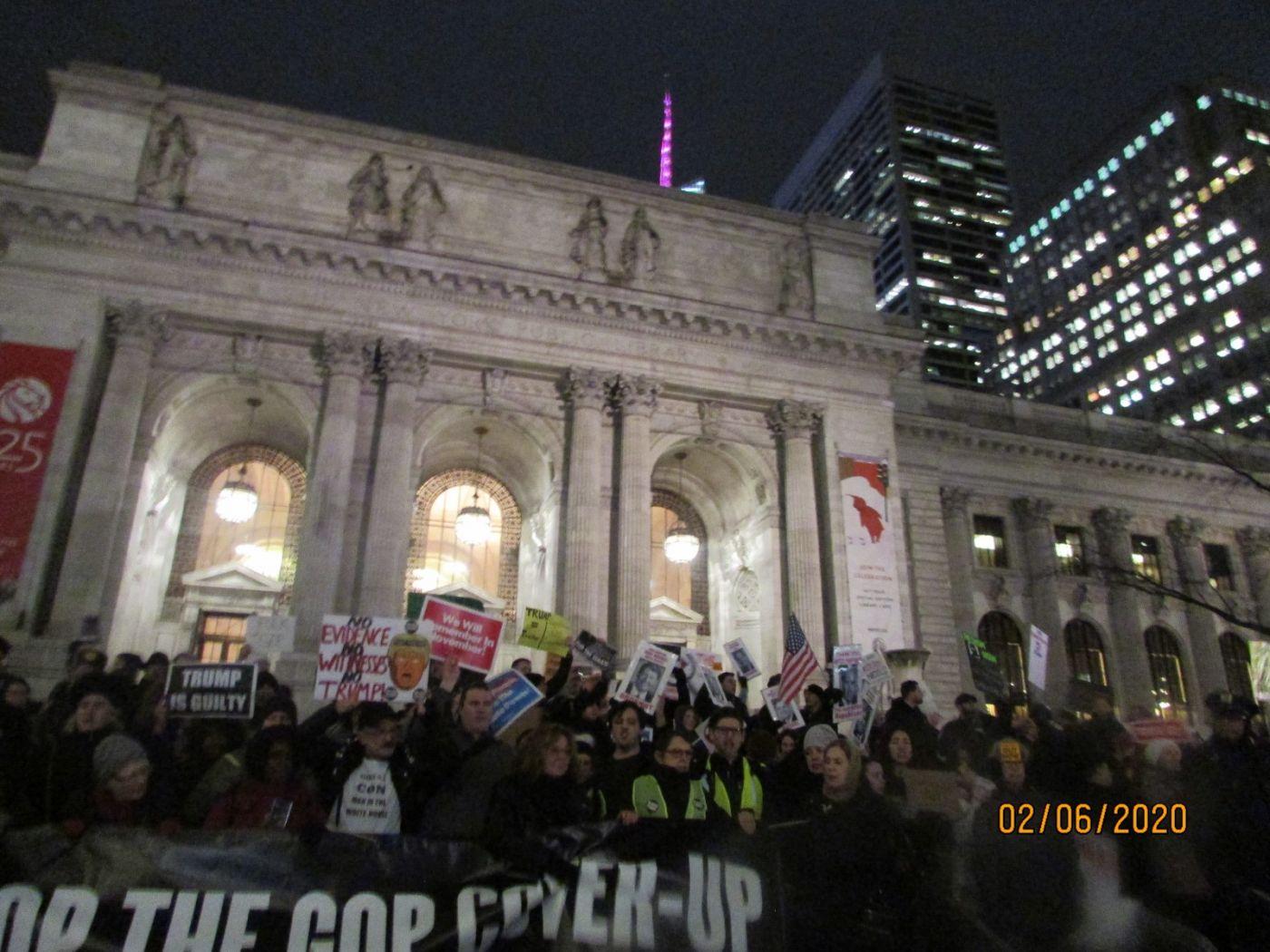 纽约市2月5日的创普弹劾案集会游行_图1-6